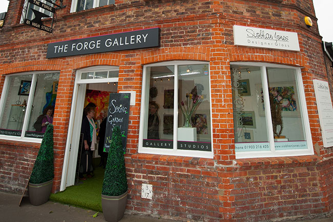 The Forge Gallery and Siobhan Jones Designer Glass Studio, West Sussex Worthing